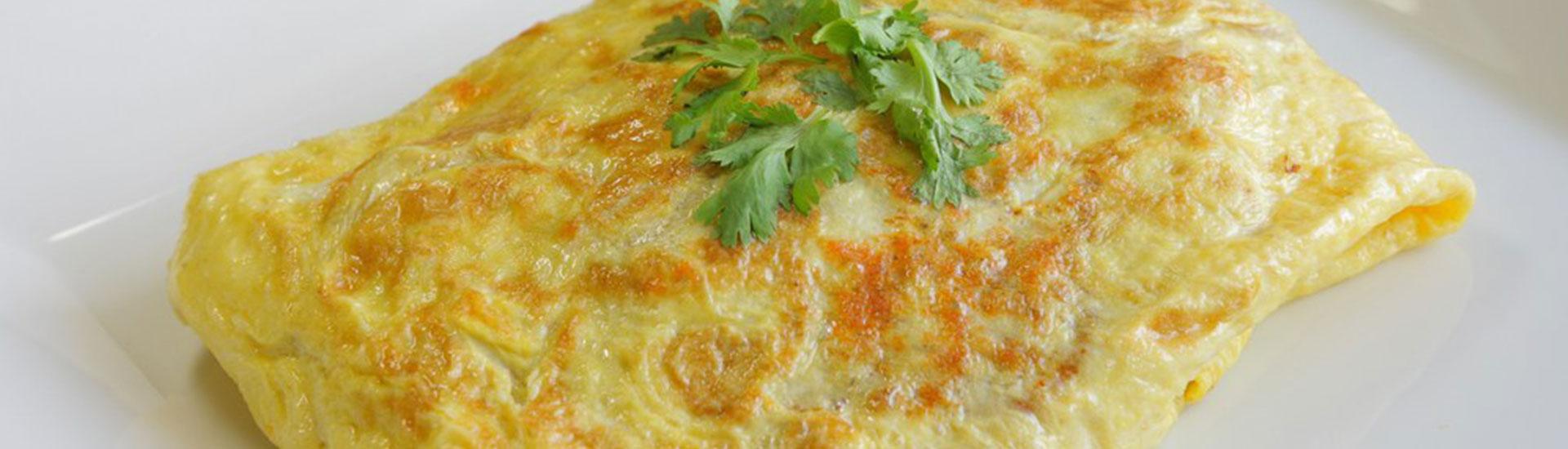 Plain Omelette & Chips